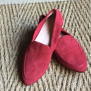 Authentic Kate Spade New York red suede loafer 6